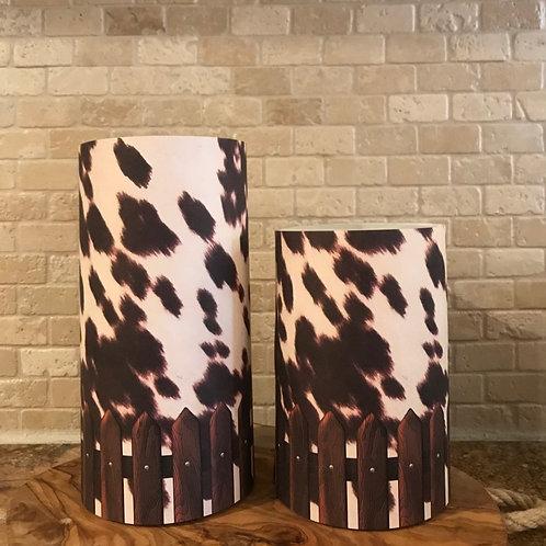 Classic Cow, Set, Flameless Candle, 4x6,4x8, Keleka Designs