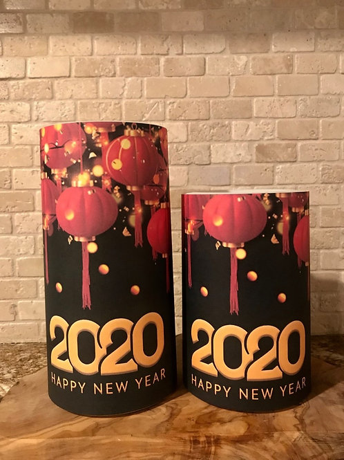 New Years Lanterns, Set, Flameless Candle, 4x6, 4x8, Keleka Designs