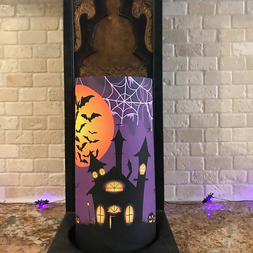 Halloween Nights, Tall, Flameless Candle, 4x8, Keleka Designs
