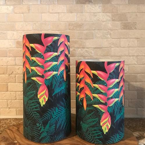 Ferns and Flowers, Set, Flameless Candle, 4x6,4x8, Keleka Designs