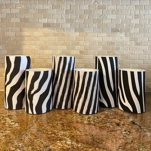 Zebra Collection, Set, Flameless Candle, 4x6, 4x8, Keleka Designs