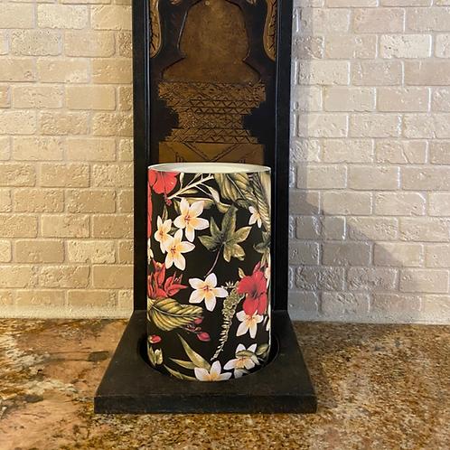 Hibiscus & Plumerias. Flameless Candle,  4x6, Keleka Designs