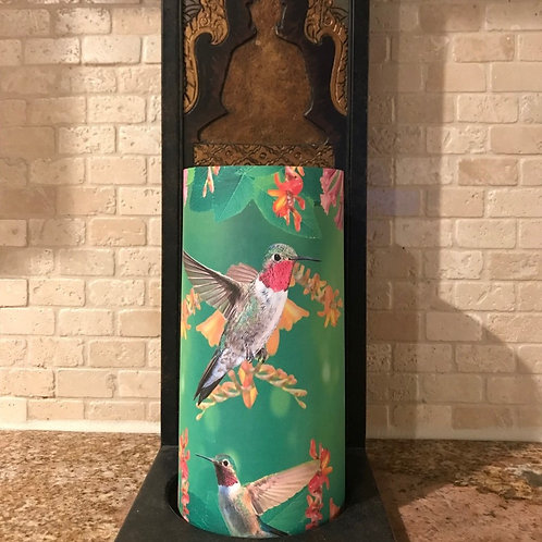 Humming Birds, Tall, Flameless Candle, 4x8, Keleka Designs