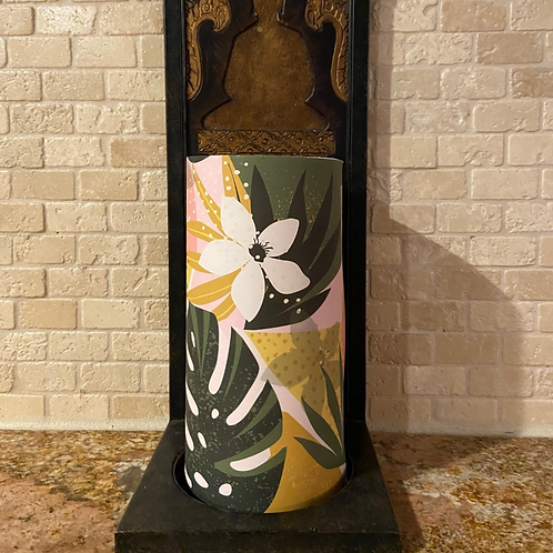 Summer Breeze, Tall, Flameless Candle,  4x8, Keleka Designs
