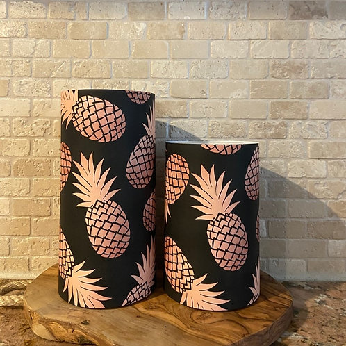 Pineapples of Gold, Set, Flameless Candle, 4x6, 4x8, Keleka Designs