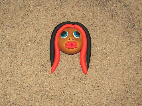 Incense holder Tan, Orange and Black, Keleka Designs