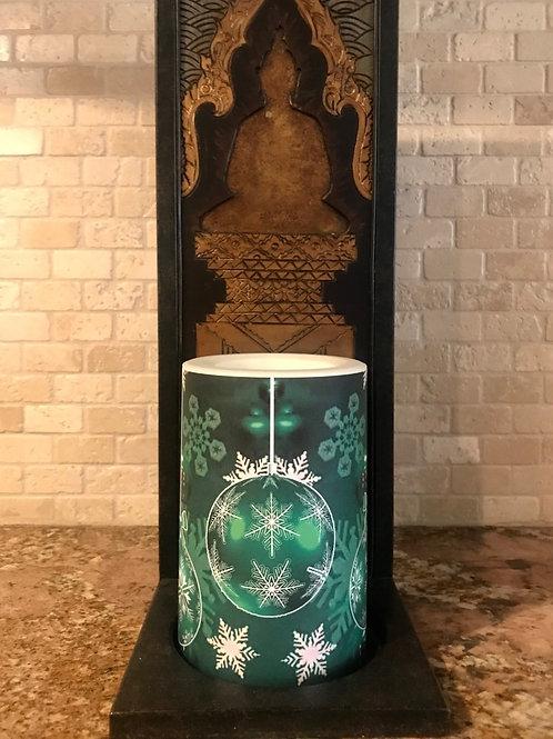 Winter Green,  Flameless Candle, 4x6, Keleka Designs