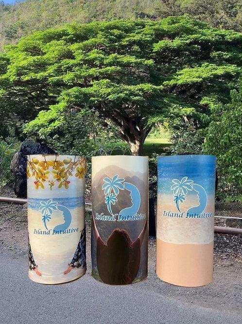 Island Intuitive, Flameless Candles, Flameless Candle, 4x8, Keleka Designs