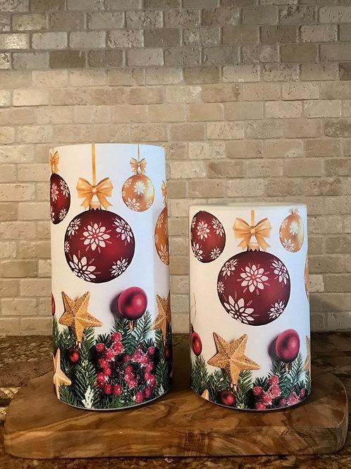 White Christmas, Set, Flameless Candle, 4x6, 4x8, Keleka Designs