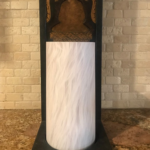 Luxury Faux Fur, Tall,  Flameless Candle, 4x8, Keleka Designs
