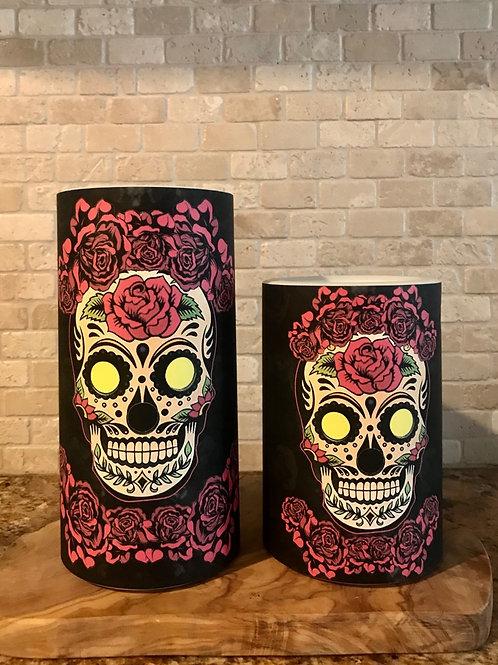 Dia de los Muertos, Set, Flameless Candle, 4x6, 4x8, Keleka Designs