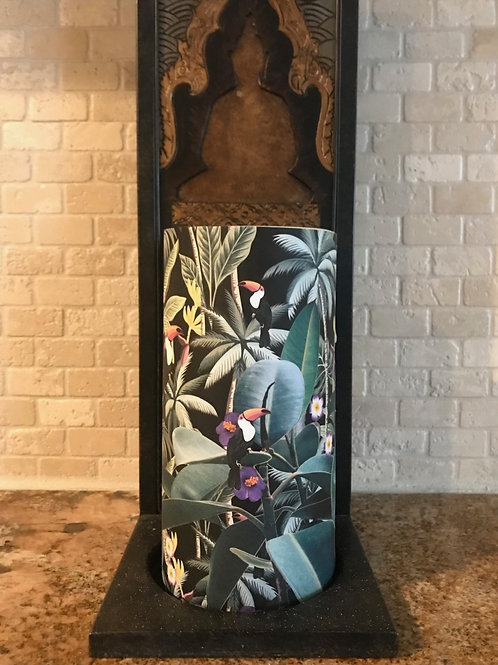 Toucan Birds of Paradise, Tall,  Flameless Candle, 4x8, Keleka Designs