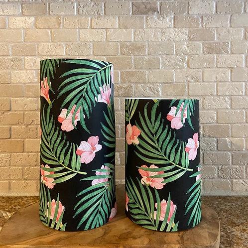 Blooming Palms, Set, Flameless Candle, 4x6, 4x8, Keleka Designs