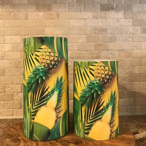 Pineapple Sunshine, Set, Flameless Candle, 4x6,4x8, Keleka Designs