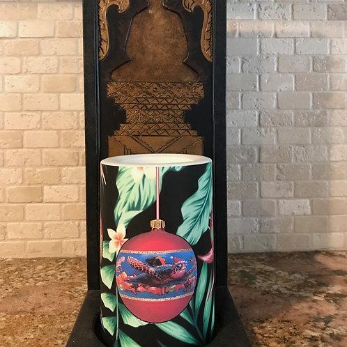 Hawaiian Christmas,  Flameless Candle, 4x6, Keleka Designs