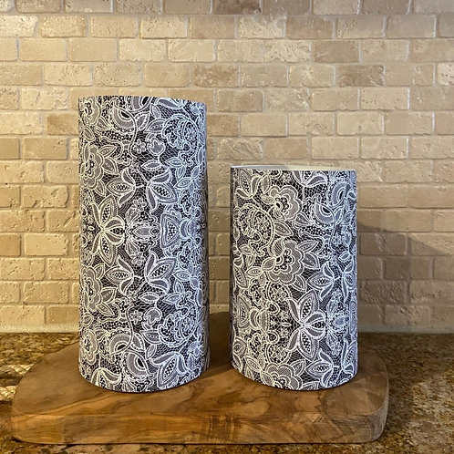 Luxury Lace, Set, Flameless Candle, 4x6, 4x8, Keleka Designs