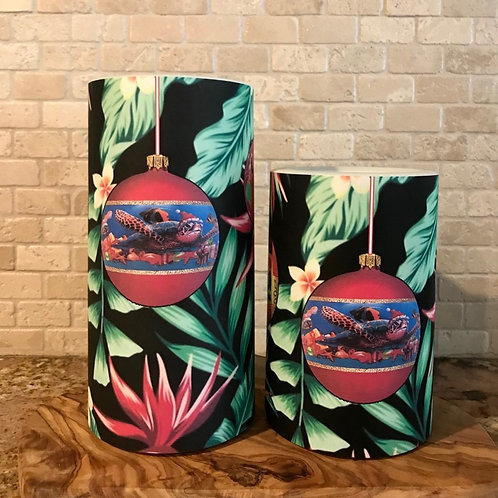 Hawaiian Christmas, Set, Flameless Candle, 4x6, 4x8, Keleka Designs