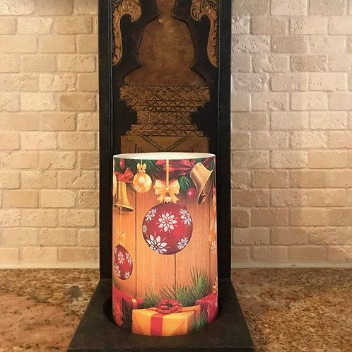 Jingle Bells,  Flameless Candle, 4x6, Keleka Designs