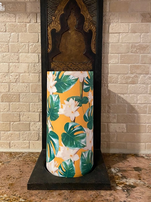 Spring is Blooming, Tall, Flameless Candle, 4x8, Keleka Designs