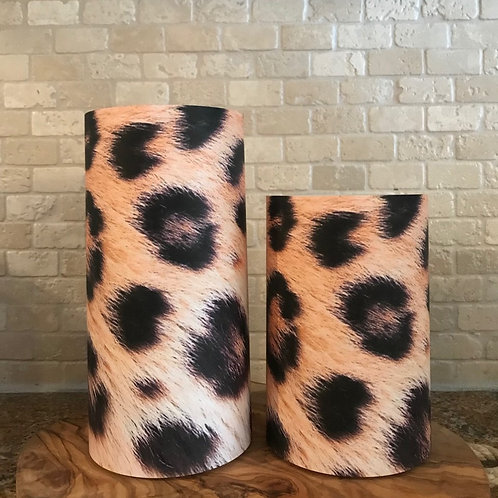 Luxury Leopard, Set, Flameless Candle, 4x6,4x8, Keleka Designs