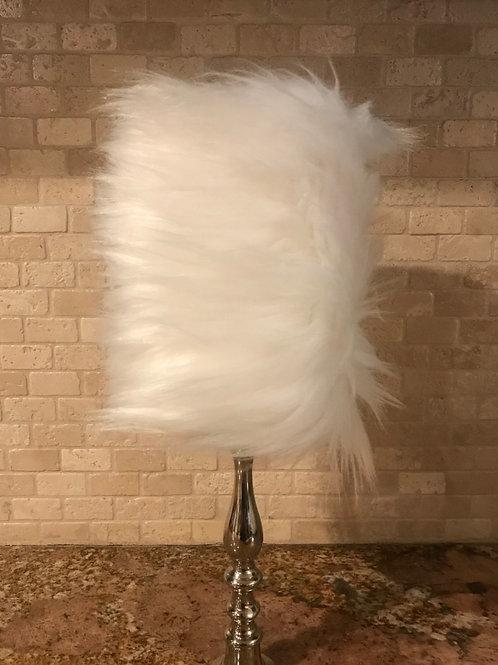 Elegant Fur,  Flameless Candle, 4x6, Keleka Designs
