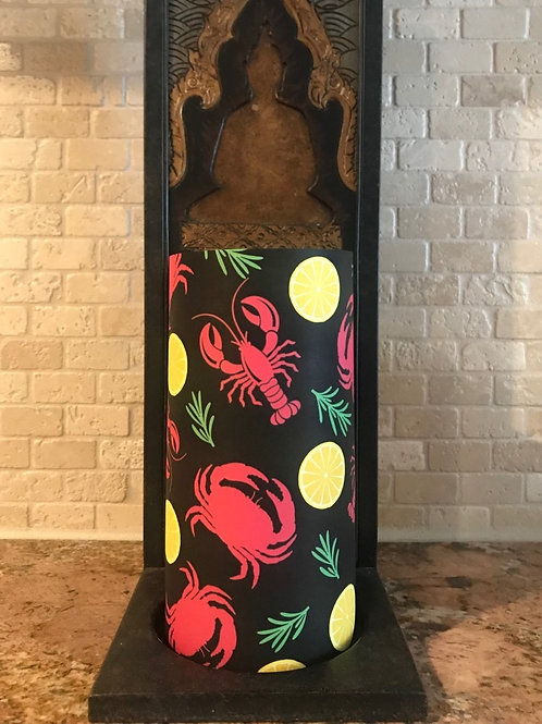 Seashore Delights, Tall, Flameless Candle, 4x8, Keleka Designs