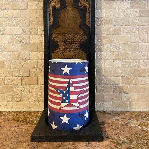 Stars & Stripes, Flameless Candle, 4x6, Keleka Designs
