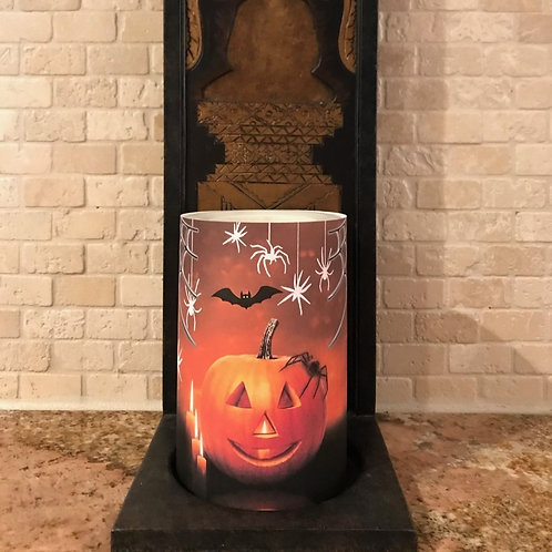 Spooktacular,  Flameless Candle, 4x6, Keleka Designs