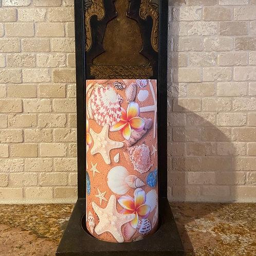 Plumeria Stars, Tall, Flameless Candle,4x8, Keleka Designs