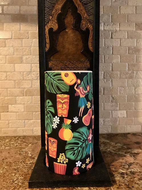 Tropical Hula, Tall,  Flameless Candle, 4x8, Keleka Designs