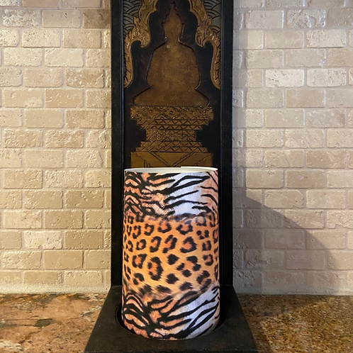 Wild Safari,  Flameless Candle, 4x6, Keleka Designs
