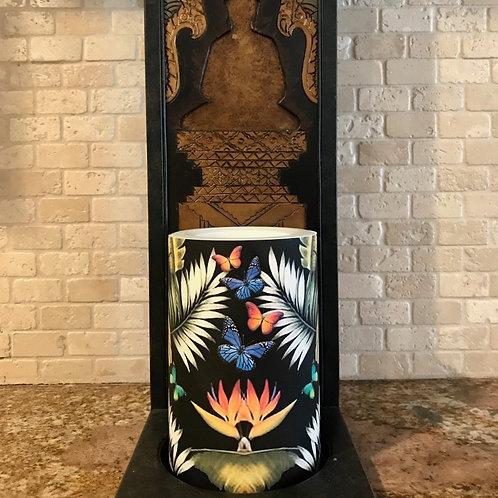 Butterfly Paradise, Flameless Candle, 4x6, Keleka Designs