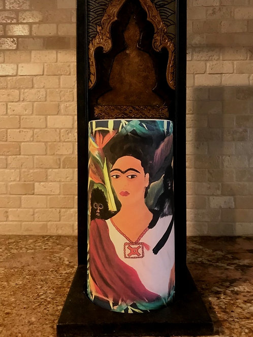 Frida, Tall,  Flameless Candle, 4x8, Keleka Designs
