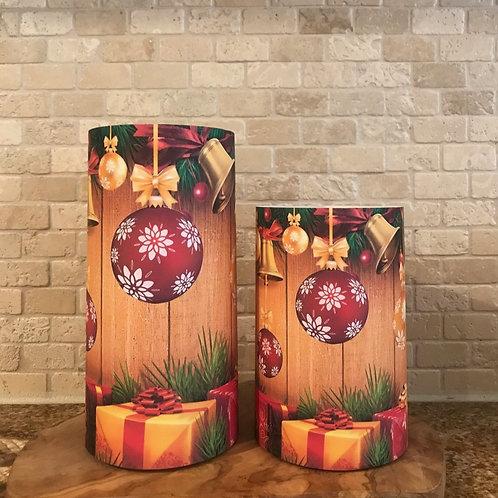 Jingle Bells, Set, Flameless Candle, 4x6, 4x8, Keleka Designs
