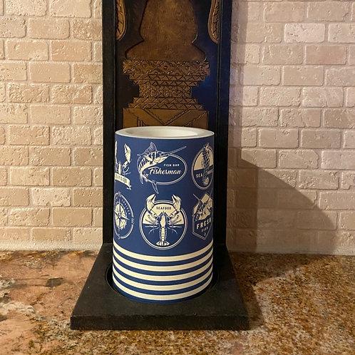Seaside Summer, Flameless Candle, 4x6, Keleka Designs