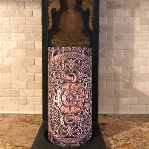Carving Dreams, Tall, Flameless Candle, 4x8, Keleka Designs