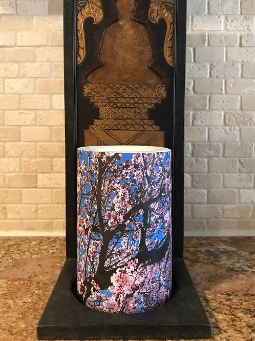 Cherry Blossoms, Flameless Candle, 4x6, Keleka Designs
