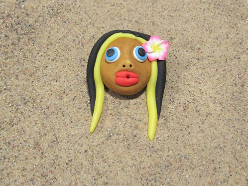 Incense holder Tan, Hawaiian Yellow and Black, Keleka Desgins