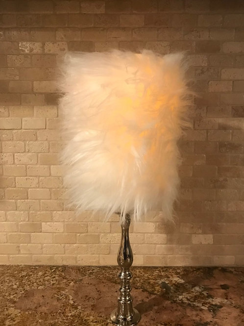 Elegant Fur, Tall,  Flameless Candle, 4x8, Keleka Designs
