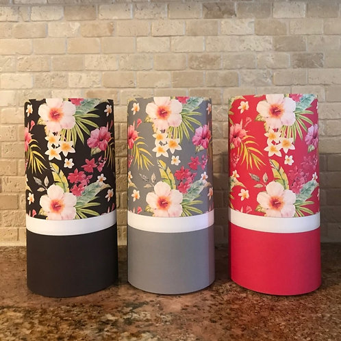 Tropical Gift, Tall , Flameless Candle,  ONE, 4x8, Keleka Designs