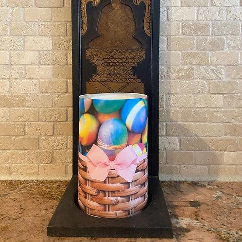 Easter Eggs, Flameless Candle, 4x6, Keleka Designs