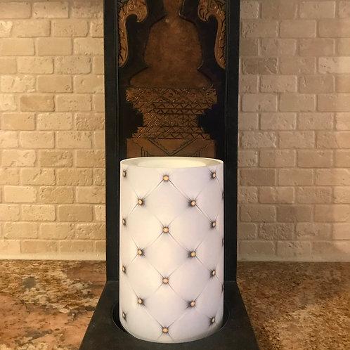 Luxury Leather, Flameless Candle, 4x6, Keleka Designs