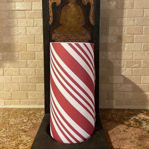 Candy Cane, Tall, Flameless Candle, 4x8, Keleka Designs