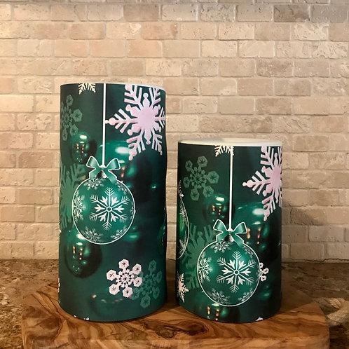 Winter green, Set, Flameless Candle, 4x6, 4x8, Keleka Designs