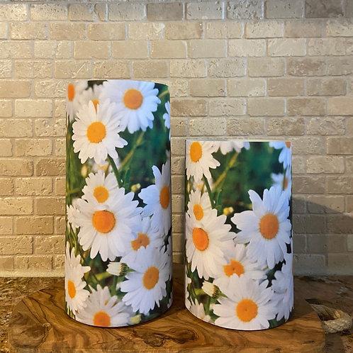 Daisies, Set, Flameless Candle, 4x6, 4x8, Keleka Designs