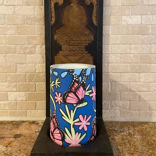 Spring Butterflies, Flameless Candle,  4x6, Keleka Designs