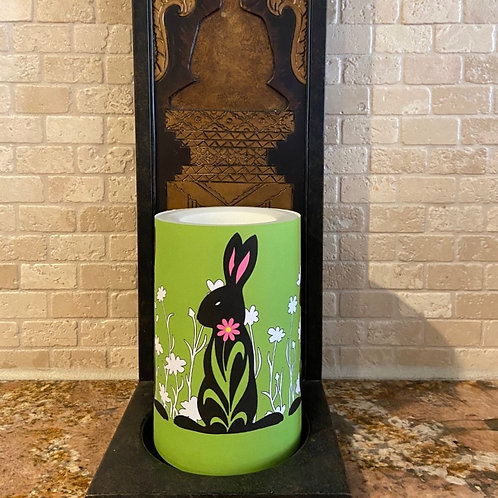 Easter Bunny,  Flameless Candle, 4x6, Keleka Designs