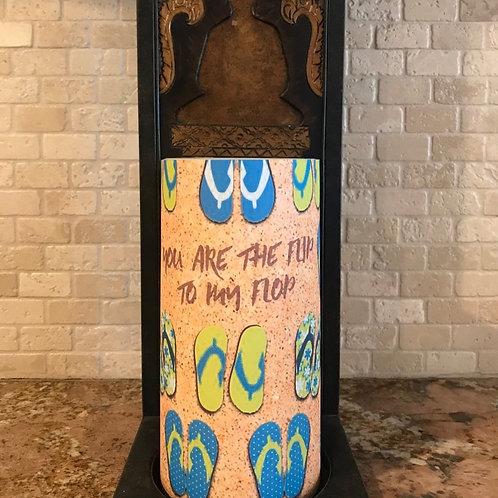 You are the Flip to my Flop, Tall,  Flameless Candle, 4x8, Keleka Designs