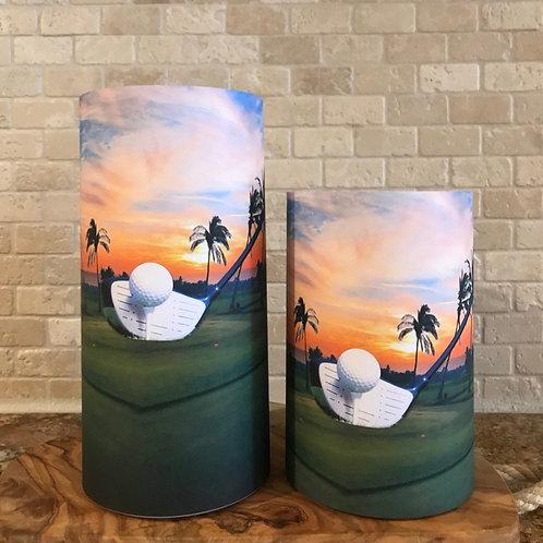 Golf in Paradise, Set, Flameless Candle, 4x6, 4x8 Keleka Designs