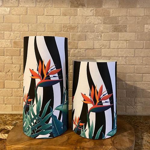 Wild Bird of Paradise, Set, Flameless Candle, 4x6,4x8, Keleka Designs